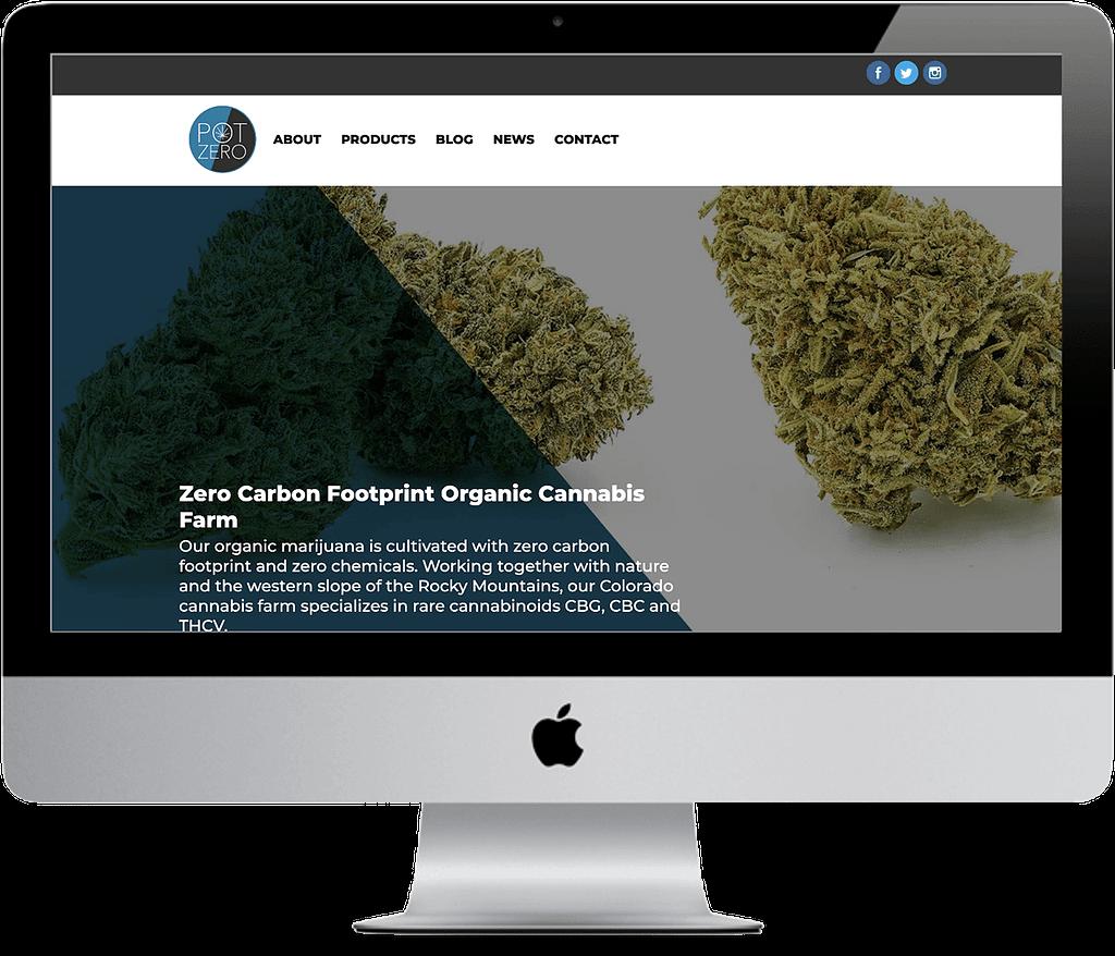 pot zero colorado cannabis web design